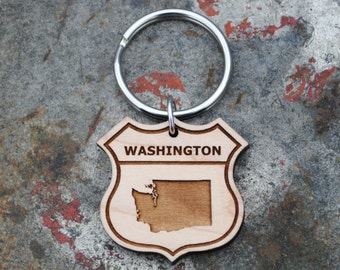 Washington State KEYCHAIN Seattle Pacific Northwest