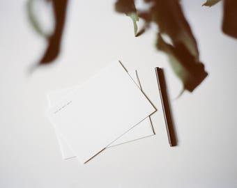 Until We Meet Again... Letterpress Note Card