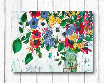 "30x40 Canvas Print - ""End of Summer Bouquet"