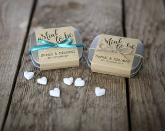 Personalised Mint Tin Wedding Favour