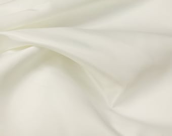 "Ivory Fabric | L'amour Dull Bridal Satin Fabric | Fabric By The Yard 58/60"" Width"