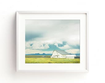 "colorful landscape photography, wall art, large art, large wall art, farmhouse decor, farmhouse wall art, barn wood, prints  ""Vintage White"""