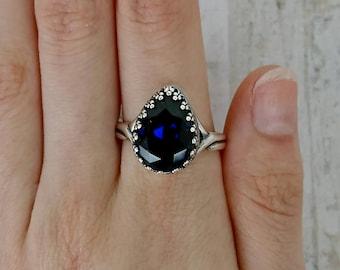Atlantis Pear Large Stone Princess Swarovski Crystal Ring