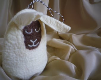 Sleeping sachet lamb to save things and materials of wool / the felt toy for baby or child's sleep; Good for Home