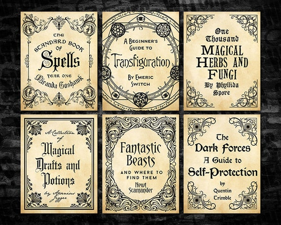 Harry Potter Book Jackets For Sale : Magical wizarding textbook covers