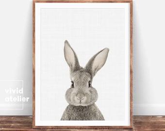 Bunny Print, Nursery Wall Art, Woodland Nursery Decor, Downloadable Prints, Animal Prints, Rabbit Print, Nursery Prints, Woodland Animals