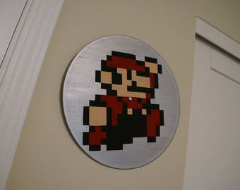 Vinyl Record Painting of Mario