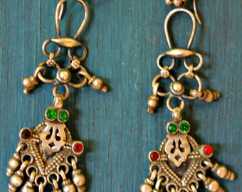 Oxidized Silver Earrings for Women Tribal Earrings Indian Earrings Indian Earrings India Silver Earring Rajasthani Jewelry Gift for Her