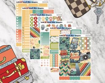 Road Trip Sticker Kit, Full Kit or A La Carte, Weekly Kit, Sticker Kit FK034