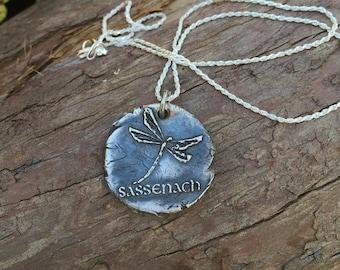 SASSENACH - fine silver wax seal pendant