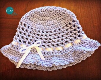 Crochet Toddler Sun Hat Pattern