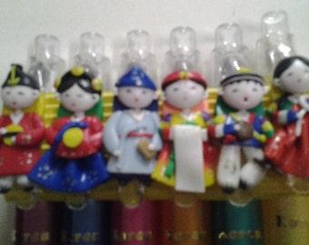 Korean Folk Doll Pens
