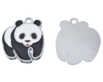 "Panda pendants ""Black and white"""