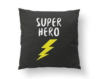 Super Hero Pillow, Kids Pillow, Home Decor, Cushion Cover, Throw Pillow, Bedroom Decor, Bed Pillow, Decorative Pillow, Boys Room Decor