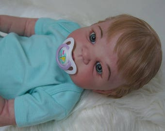 Reborn Baby Doll Full body Silicone Vinyl Victoria sculpt by Sheila Michael