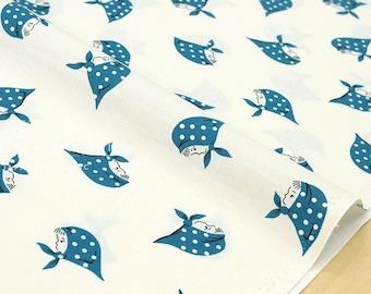 Japanese Fabric Kerchief Girls - blue - 50cm