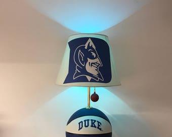 Duke Blue Devils Lamp, Duke, Basketball, Basketball Light, NCAA, Basketball  Lamp