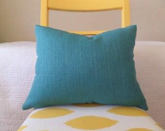 Textured Jewel-Tone Teal Zippered Pillow Cover