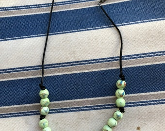 Green Field Bugs Necklace