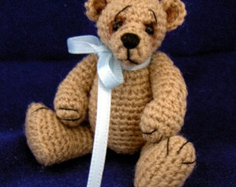 Miniature Bear Pattern - Thread Artist Crochet Teddy Bear - PDF Format