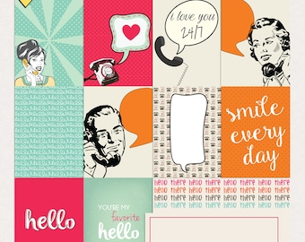 Hello Journal Cards - Instant Download Printable journaling cards for Project Life and digital scrapbooking by Rachel Designs