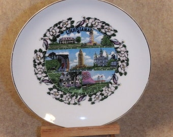 Louisiana Souvenir Plate ~ The Pelican State