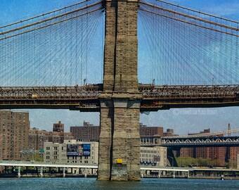 Brooklyn Bridge Photography NY New York City Art Photograph Print Home Wall Decor Manhattan Urban Classic Vintagey