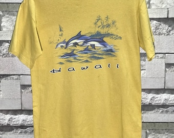 Rare Vintage Hawaii t shirt size medium M / Hip hop  /  Skate Powell Santa Cruz Skateboard T shirt / Surfing Surfer Tshirt  /