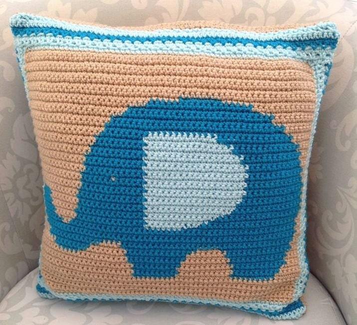 patrón de la almohada del elefante, elefante amortiguador patrón ...