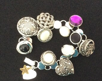 Handmade Vintage Style Button Bracelet
