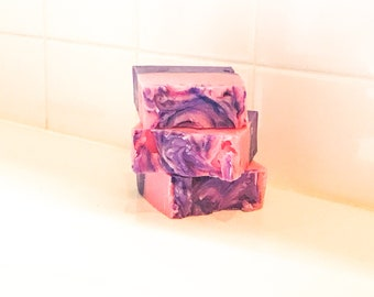 Pink and Purple | Handmade Soap | Vegan Soap | Palm-Free Soap | Shea Butter Soap