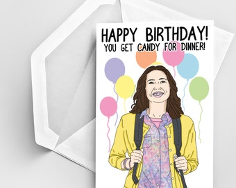 Birthday Greeting Card, The Unbreakable Kimmy Schmidt Birthday Card, Happy Birthday Card, Party Card, Funny Birthday Card, Joke Birthday