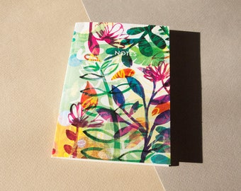 A6 Summer Flowers Notebook - Stationery - Paper Goods - Paper Products - Illustrated - Present - Gift Idea - Flowers - Plants
