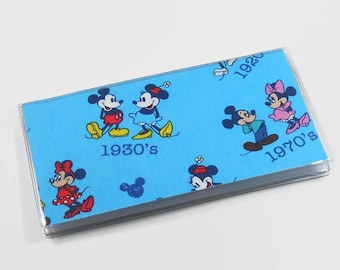 Checkbook Cover Mickey & Minnie Mouse Vintage Years