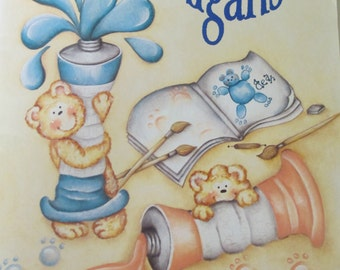 """Folk Art Decorative book """"Shenanigans"""" by Kathleen Foster 44 pages 1997 used book"""