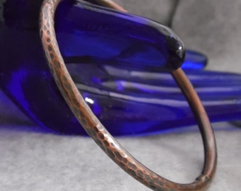 Copper Bangle Bracelet, Bohemian Bangle Bracelet, Stacking Bracelet, Boho Bangle Bracelet, Heavy Copper Bangle