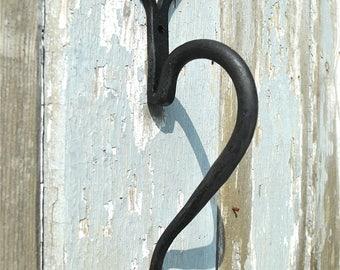 A hand wrought iron American shaker folk art door handle barn door pull BL11