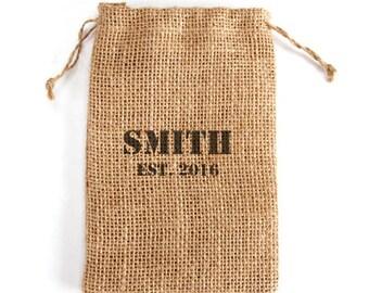 Personalized Mini Burlap Bags