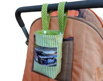 Baby Bottle- Water Bottle Holder for bike,cot & pram/stroller - National Guard Race Car
