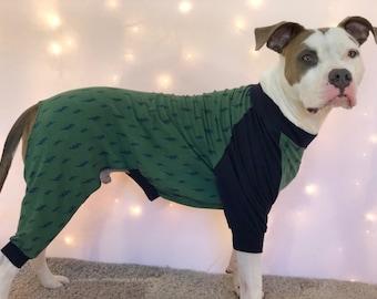 Dog Pajamas, Cotton Dog Pajamas, Dog PJs, Dog Jammies, Dog Pyjamas, Dog Clothes, Dog Clothing, Large Dog Clothes, Cute Dog Clothes, Pitbulls
