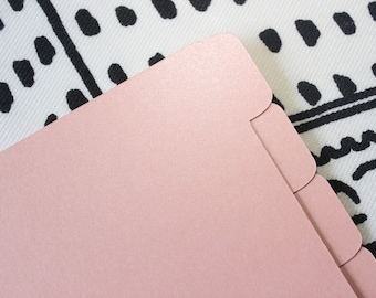Planner Dividers - Pink Pearl in Pocket and Personal Size