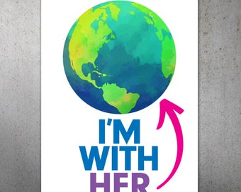 I'm With Her Science March PRINTABLE Protest Poster | Climate Change, Trump Protest Sign