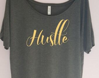 Hustle Shirt, Workout shirt, workout clothes, gym shirt, woman's clothing, fitness shirt, workout tshirt