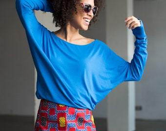 Fair Trade Blouse Be My Valentine Cornflower