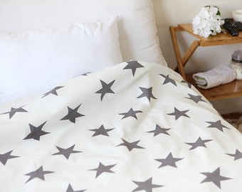 Gray Stars Oxford Cotton Fabric - By the Yard 73587