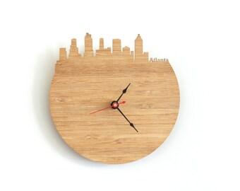 Wall Clock - Atlanta, Georgia Skyline
