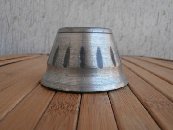 Vintage Stunning Norwegian Tin Candleholder Tinn Norge
