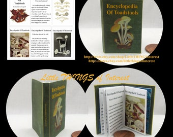 ENCYCLOPEDIA OF TOADSTOOLS 1:6 Scale Illustrated Readable Book Magic Witch Fortune Teller Gypsy Potter Barbie Popular Boy Wizard Potter