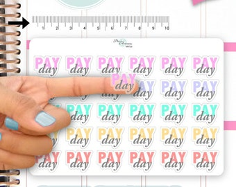 Clear Pay Day Stickers Payday Planner Stickers Erin Condren Life Planner Decorative Sticker NR730