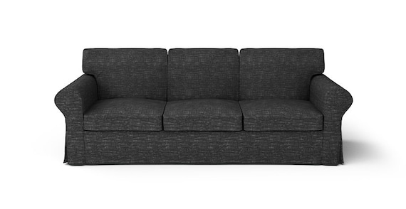 Ikea Ektorp 3 Seater Sofa Slipcover Only In Nomad Black Fabric